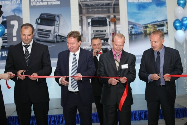 Открытие новой сервисной станции грузовиков Volvo.
